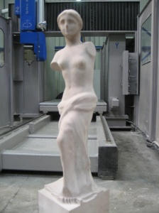 Statue Reproduction by 5 axes machining