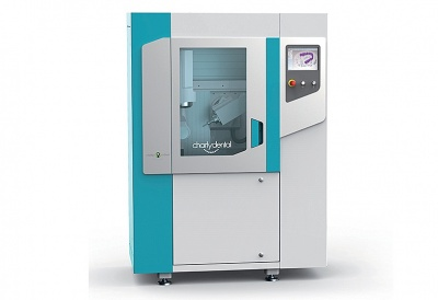 The CHARLYDENTAL CD50 milling machine exhibited at the next DENTAL FORUM (Feb. 2018)